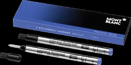 2 Montblanc LeGrand Rollerball-Minen (F) Pacific Blue