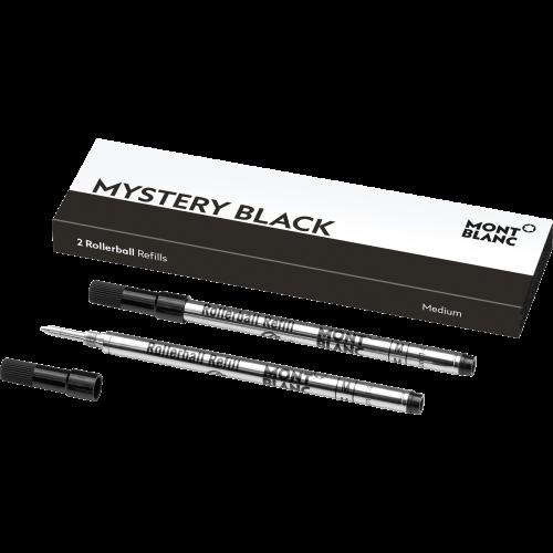 2 Montblanc Rollerball-Minen (M) Mystery Black
