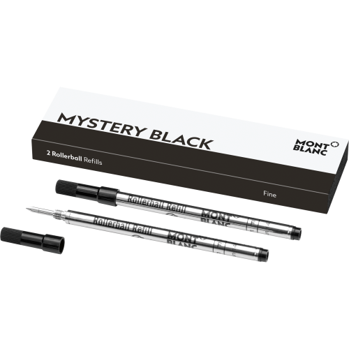 2 Montblanc Rollerball-Minen (F) Mystery Black