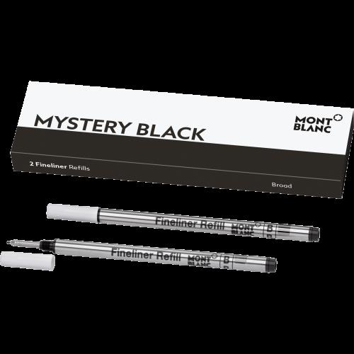 2 Montblanc Fineliner-Minen Mystery Black