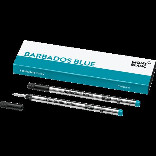 2 Montblanc Rollerball-Minen (M) Barbados Blue